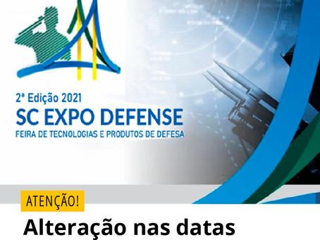 2a Expo Defense: Atenção a Novas Datas
