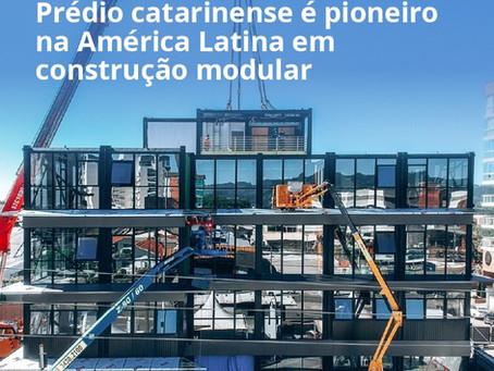 Engenharia. Prédio catarinense é pioneiro na América Latina em construção modular