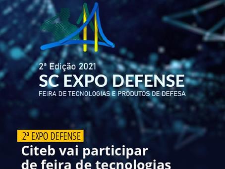 Citeb vai participar da 2a Expo Defense - Feira de tecnologias e produtos de defesa