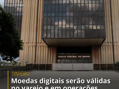 Moedas digitais serão válidas no varejo e em operações internacionais, diz Banco Central