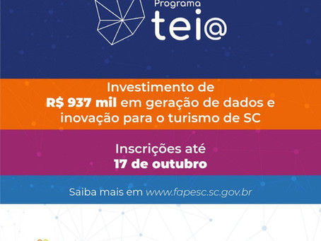 Programa Tei@ de Inovação para o turismo catarinense