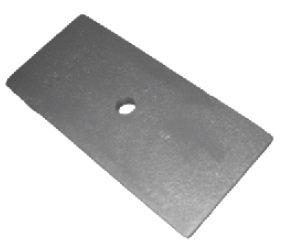 Cunha da mola traseira 14x90x190mm (013.100024)