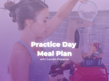 Practice Day Meal Plan