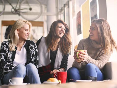 Girls having fun at home, laughing. _edi