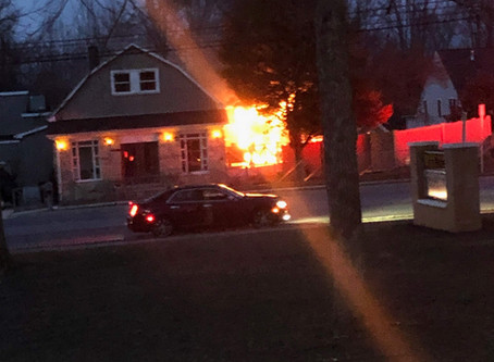 House Fire on Lyons Mill Road