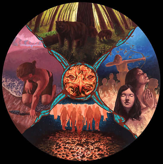 """Goddess Wheel"" by Dillon Endico - Prints"