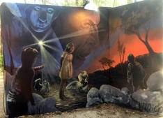 2016 Hulaween Mural by Dillon Endico