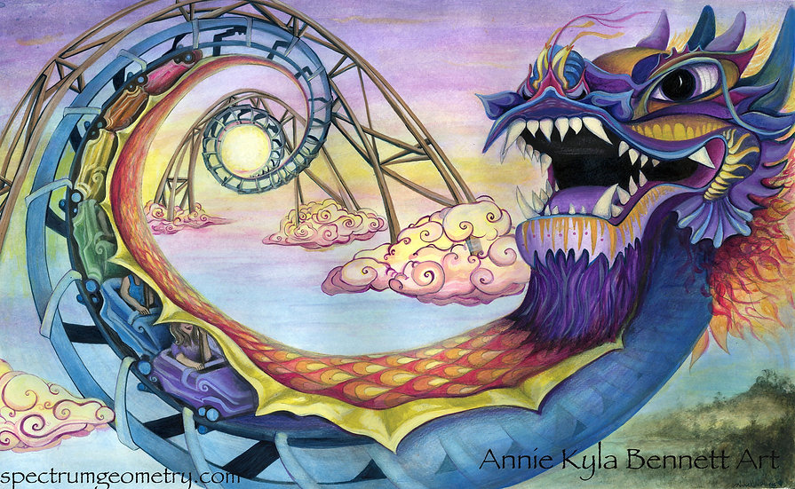"""Adventures of Sunset"" 16x24 Giclee Canvas Print by Annie Kyla Bee"