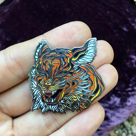 Tigerface enamel pin