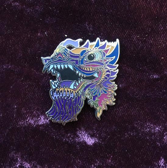 Dragon Sunset enamel pin