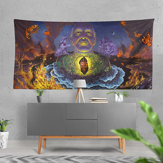 """""""New Growth"""" Tapestry by Medicine Heart Murals"""