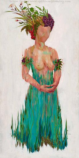 """Mama Herb"" 12x24 Giclee Canvas Print by Dillon Endico"