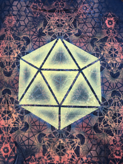 Organic Bamboo Womens Sacred Geometry Tank Top Platonic Solids Featuring Icosahedron Mandala With Metatrons Cube Flower Of Life Honeycomb