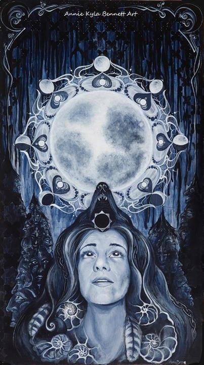 'Moon Maiden' by Annie Kyla Bennett