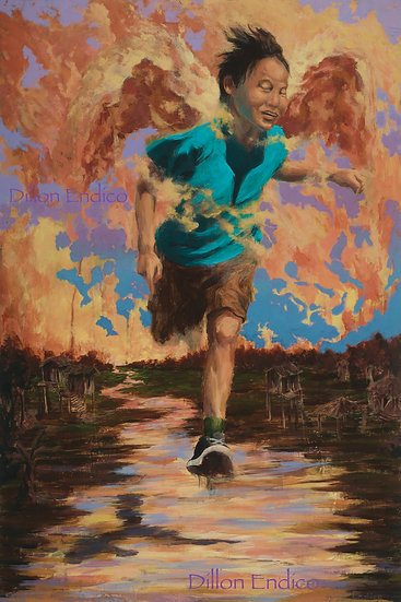 """The Runner"" 16x24 Giclee Canvas Print by Dillon Endico"