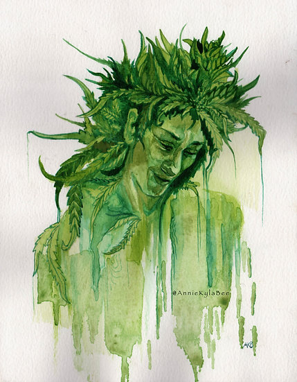 """LadyBud"" by Annie Kyla Bee... Prints.."
