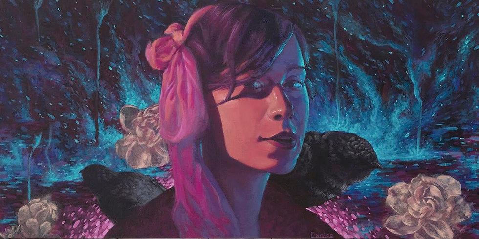 'Gardenia Midnight' Original Painting by Dillon Endico
