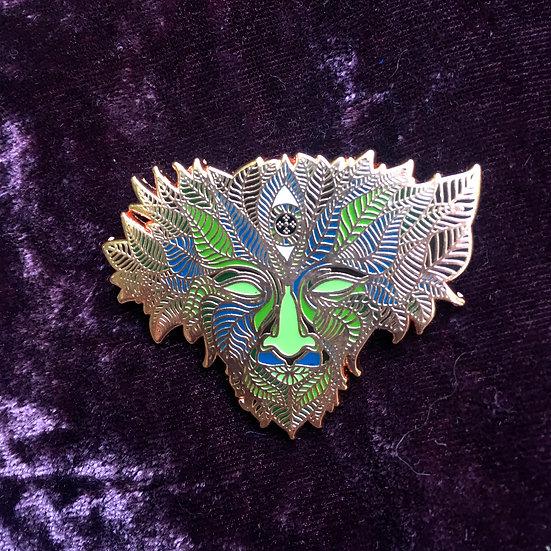Chlorophyll copper enamel pin
