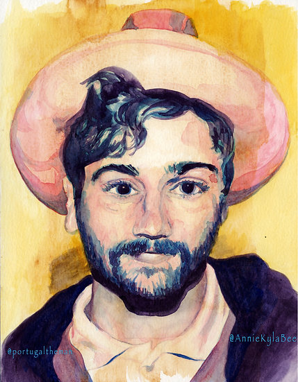 """""""Censored Colors"""" John Gourley Portrait Original Painting by Annie Kyla Bee"""