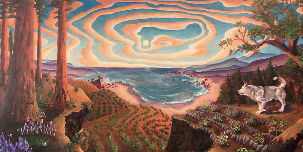 'Redwood Wolf' by Medicine Heart Murals