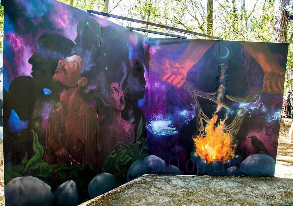 2017 Hulaween Mural by Dillon Endico