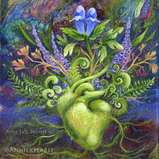 Heart Garden, Original Painting, Annie Kyla Bee