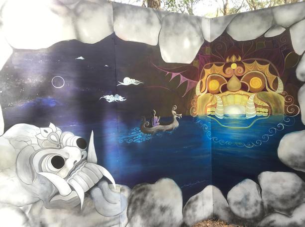 AKB head for sunset 2016 8x12 mural maze
