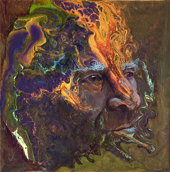 """Smoke"" paper print of Original Painting by Annie Kyla Bee"