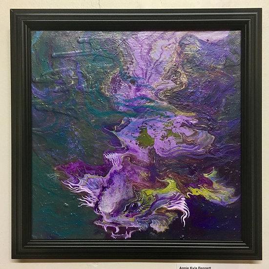 """Decal Koi Mania"" Original Painting by Annie Kyla Bennett"