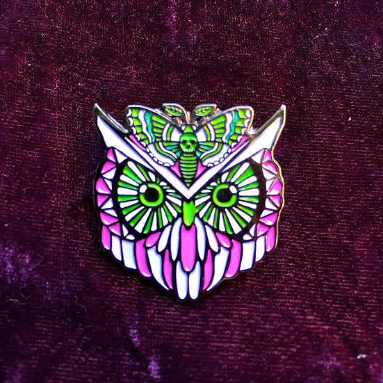 Owl Moth Animal Spirit Hat Pin