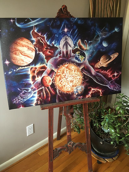 """Innerverse"" 24x36 Giclee Canvas Print by Jack Henry Art"