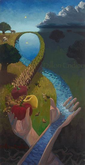 """""""Woven Connection"""" 12x24 Giclee Canvas Print by Dillon Endico"""