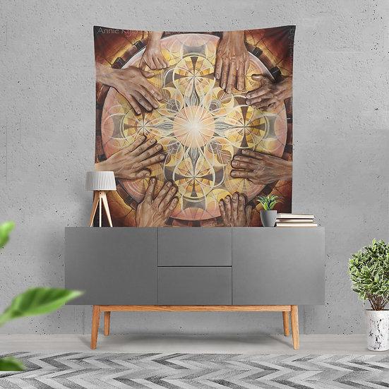 """""""Earth Rhythm"""" Tapestry by Annie Kyla Bee"""