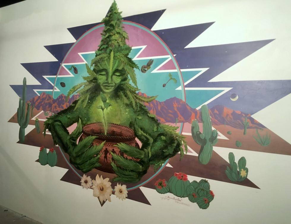 'Ganja Goddess' by Medicine Heart Murals