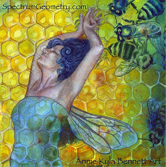 """Queen's Dance"" 12x12 Giclee Canvas Print by Annie Kyla Bee"
