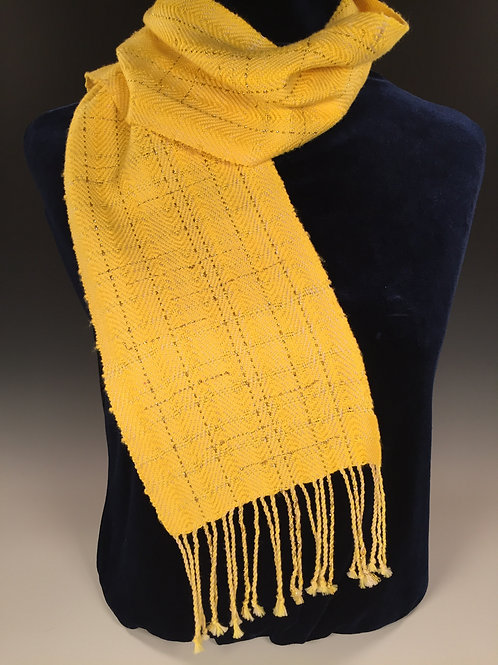 Hyacinth and Gold Twill Scarf