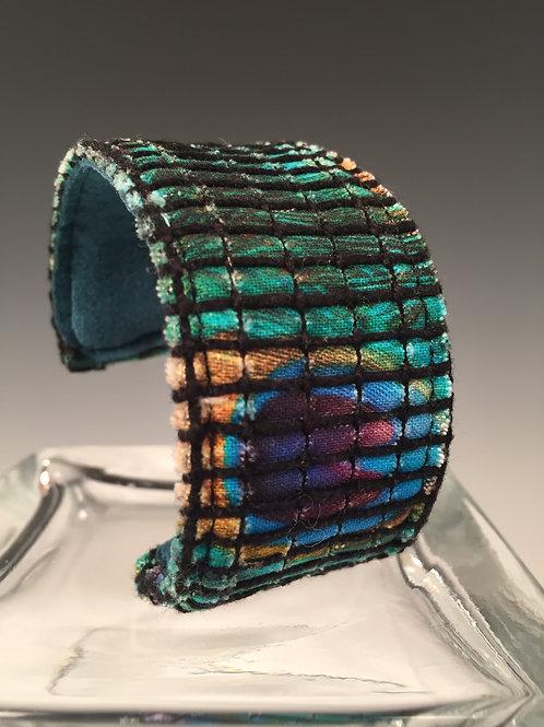 Cuff Bracelet Peacock Feathers