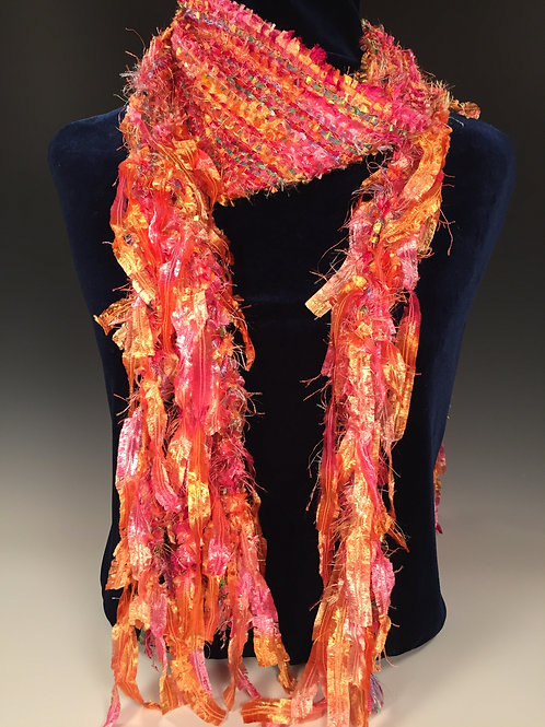 Funky Fringe Scarf  Cotton Candy