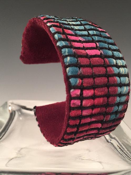 Cuff Bracelet Burgundy/Turquoise