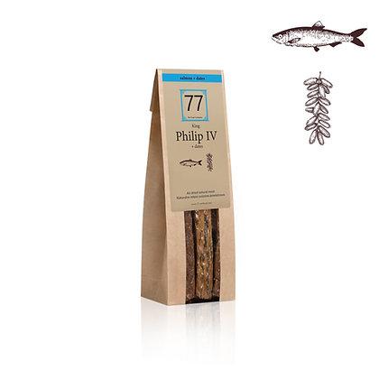 Philip IV+ Stripes z suszonego łososia z daktylami