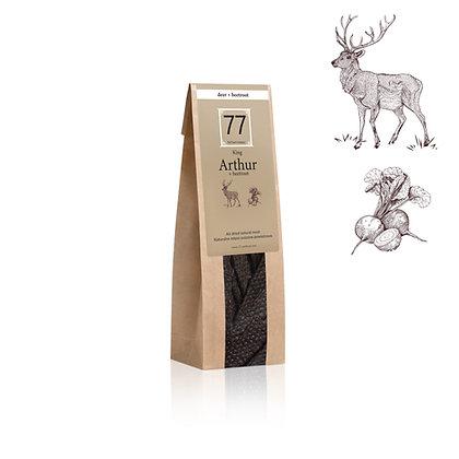 Arthur+ Stripes z suszonej jeleniny z burakiem
