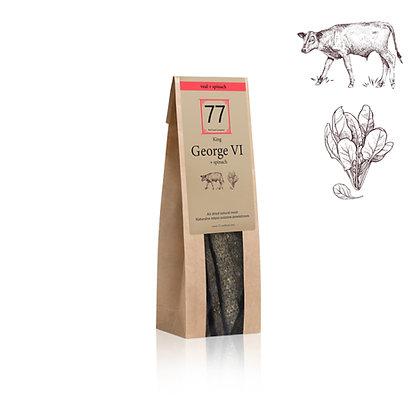 George VI+ Stripes z suszonej cielęciny ze szpinakiem