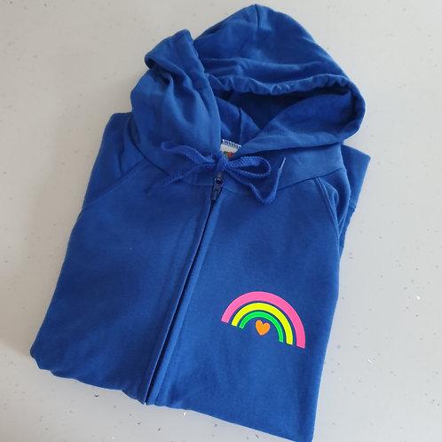 Neon Rainbow Zip Hoodie
