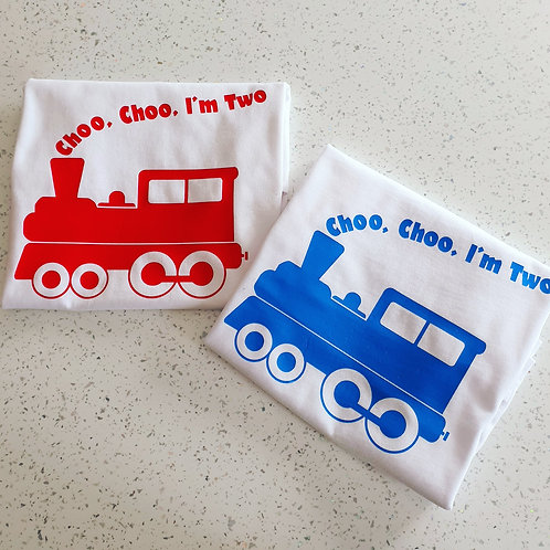 Choo Choo I'm Two T-Shirt