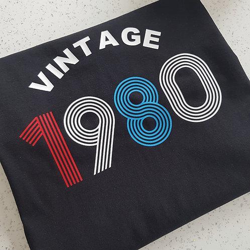Vintage Birthday Year T-Shirt
