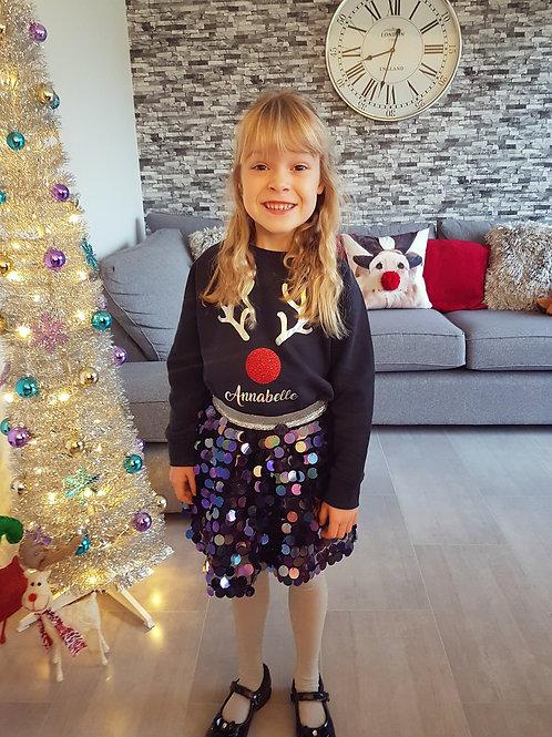 Personalised Rudolph Christmas Jumper