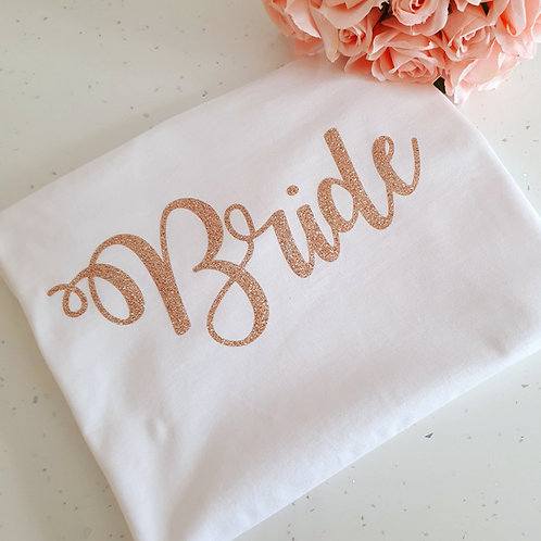 Rose Gold Bride T-Shirt