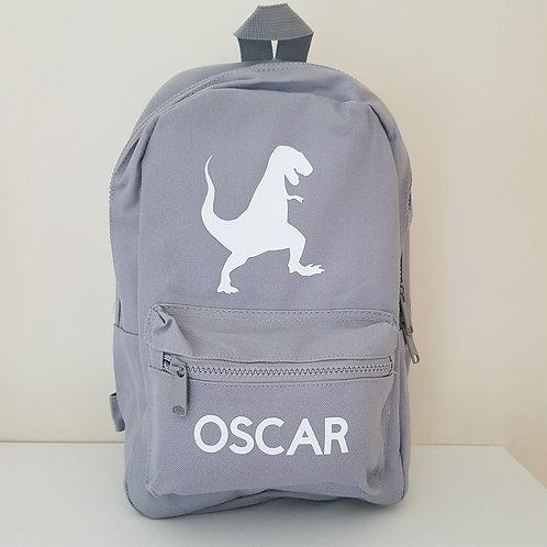 Personalised Dinosaur School Bag