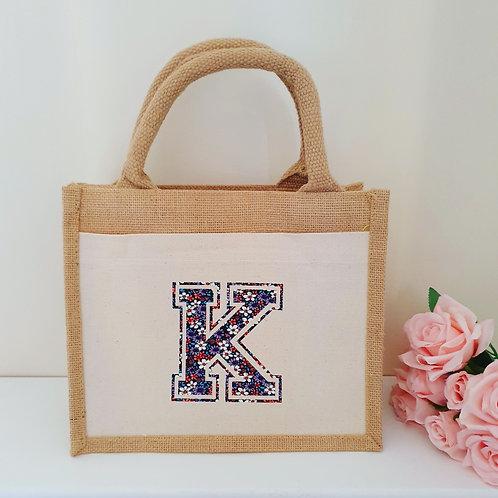Floral Jute Bag