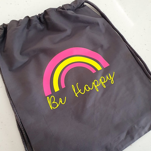Neon Be Happy Gym Bag